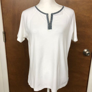 EUC White with black accents Shirt